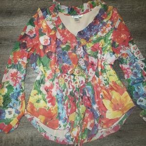 Romantic Ruffle Front Coldwater Creek Top